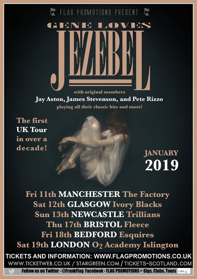 January 2019 UK tour poster