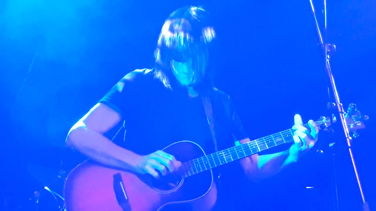 Jay on stage at Islington Academy November 2018