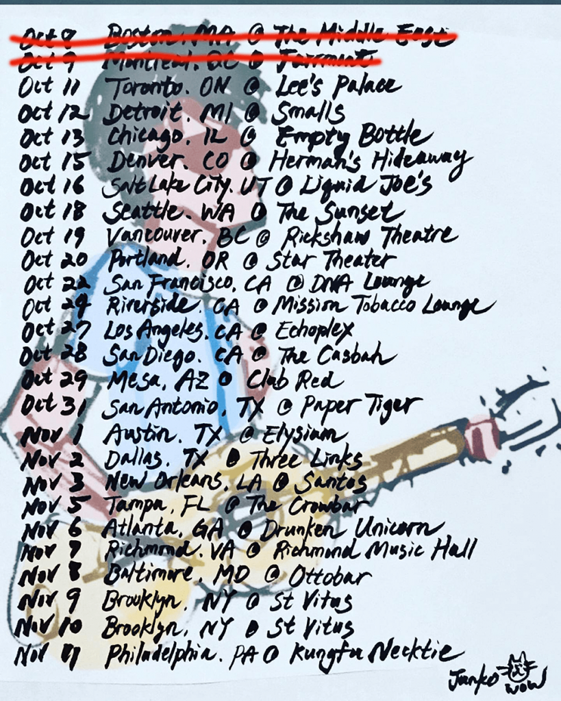 Jay Aston gig list Fall 2019