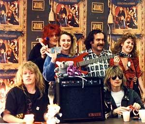 Instore record signing at Huntington Beach.