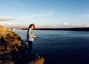 James fishing at Bodego Bay