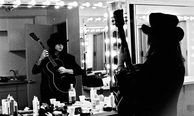 Jay in dressing room