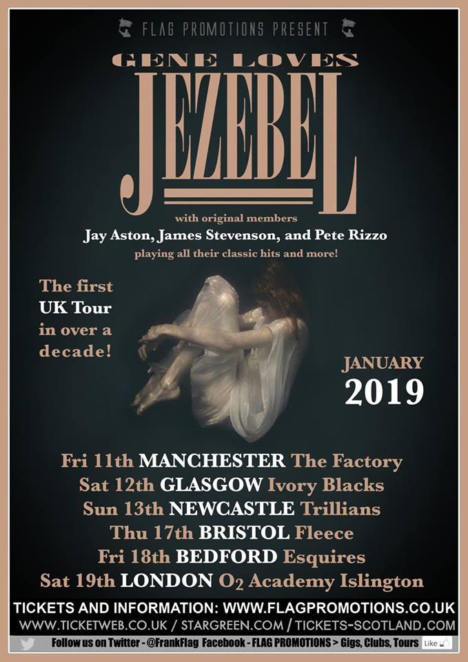 January 2019 UK tour poster