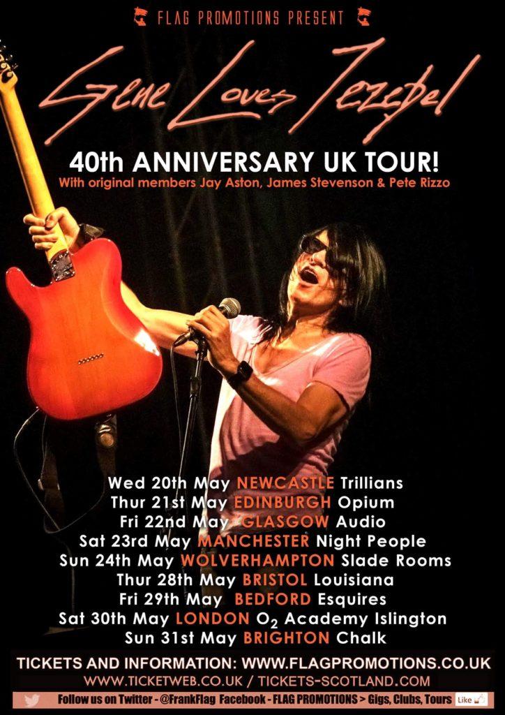 Gene Loves Jezebel tour poster 2020